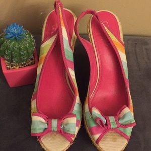 Authentic Coach GRACE Multicolor Platform/Sandals